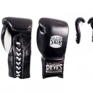 Cleto Reyes Lace Up Sparring Gloves in Black