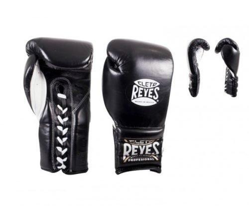 Cleto Reyes Lace Up Sparring Gloves in Black