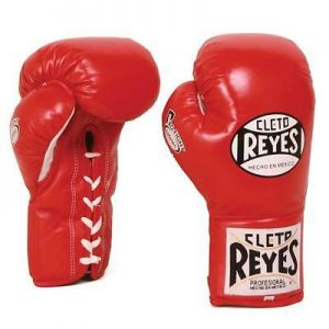 Cleto Reyes Official Safetec Boxing Gloves in Red