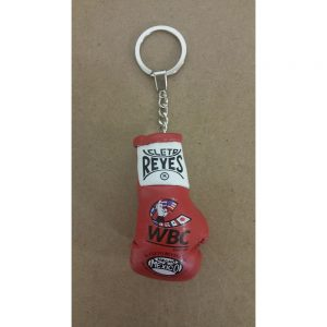Cleto Reyes Leather Glove with Official WBC Logo Key Ring Red