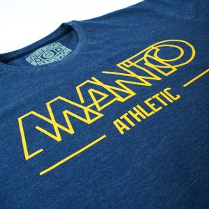 Manto Athletic Blue Denim T-Shirt BJJ Nogi MMA Casual tee