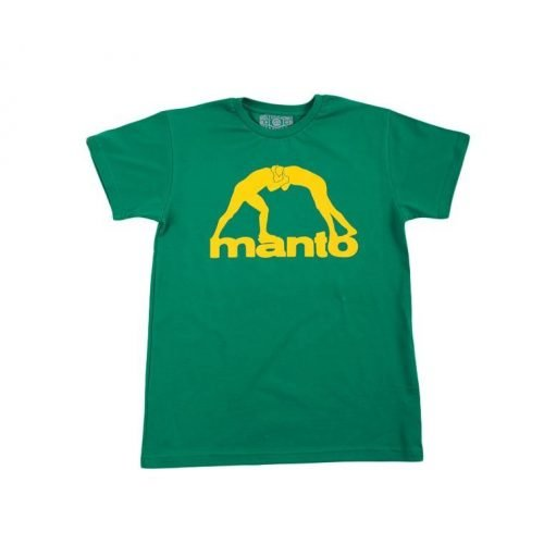 Manto Logo T-Shirt Vibe Green BJJ No-Gi Grappling MMA Casual