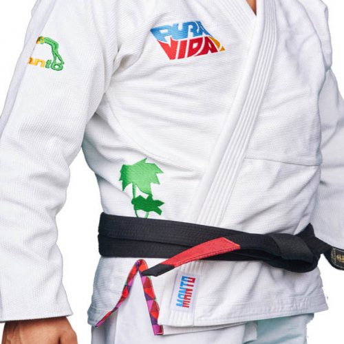 Manto Pura Vida BJJ Gi White BJJ Gi kimono uniform internation shipping