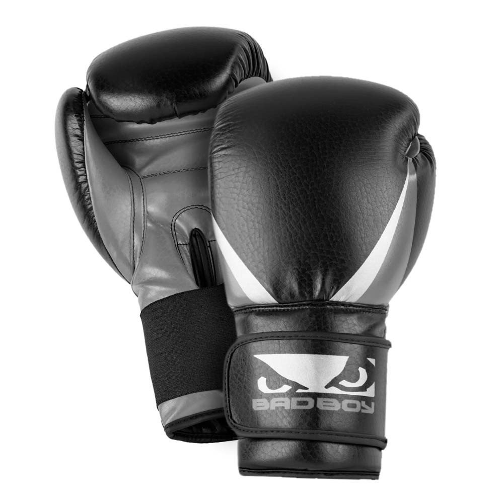 Shiv Naresh Teens Boxing Gloves 12oz: Bad Boy Training Series 2.0 Charcoal Boxing Gloves