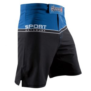 Hayabusa Sport Training Shorts Black Blue