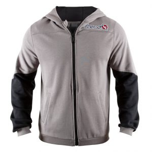 Hayabusa Wingback Grey Black Jacket Hoodie