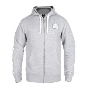 Bad Boy Core hoodie light grey core hoodie mma ufc badboy leisurewear UK MMA international worldwide shipping