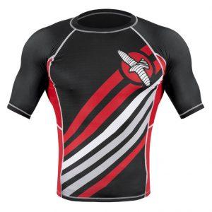 Hayabusa Elevate Rash Guard Short Sleeve Black Red