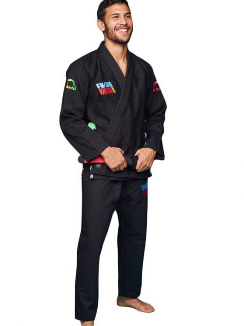 Manto Pura Vida BJJ Gi Black UK BJJ Gi Kimono Uniform Worldwide Shipping International