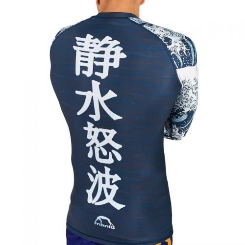 Manto Waves Rash Guard Long Sleeve Navy rash guard nogi mma bjj grappling internationl delivery free uk delivery