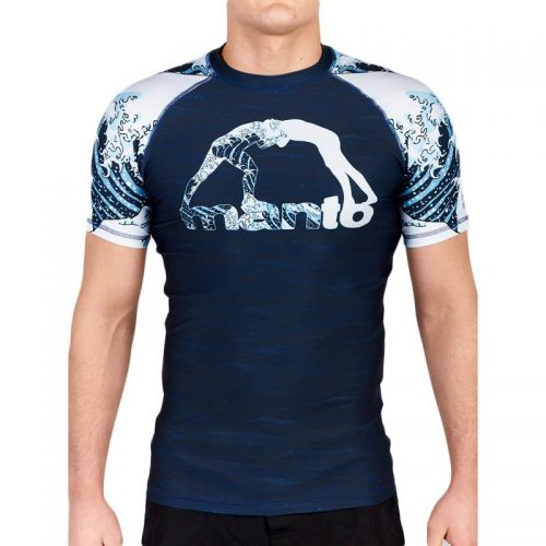 Manto Waves Rash Guard Short Sleeve Navy rash guard nogi mma bjj grappling internationl delivery free uk delivery