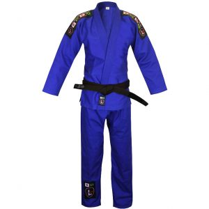 Larai Model Tiba BJJ Gi Blue