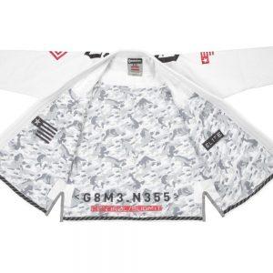 Gameness Elite BJJ Gi White Kimono Uniform Gameness Brazilian Jiu Jitsu Uniform