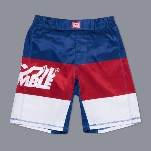 Scramble RWB Shorts BJJ No-gi MMA Boxing manto larai tatami gameness board shorts uk international shipping minotaurfightstore
