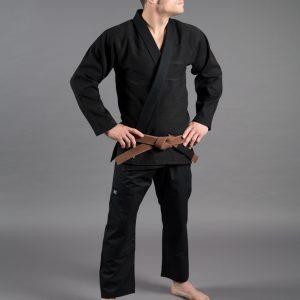 Scramble Standard Issue Semi Custom BJJ Gi Black Brazilian Jiu Jitsu Kimono Uniform Tatami Manto Larai Gameness combat fight gear uk international shipping worldwide
