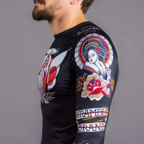 Scramble Tebori Rash Guard BJJ No-gi brazilian jiu jitsu mma compression top manto tatami gameness larai uk international shipping