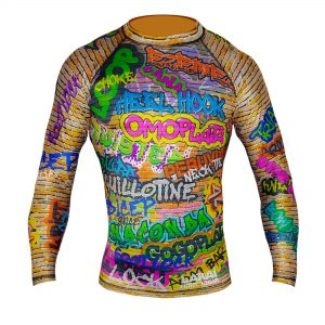 larai fight wear subz graffiti rash guard