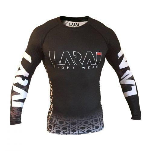 Larai Fight Wear Black Geo Rash Guard