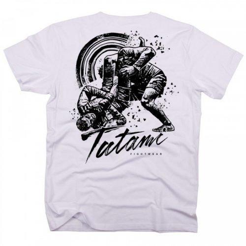 Tatami Grapplers Collective Triangle T-Shirt White Tatami Spring 2017 Range casual teetshirt scramble manto larai worldwide shipping