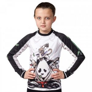 Tatami Kids Gentle Panda Rash Guard BJJ Jiu Jitsu no-gi nogi kids youth submission wrestling larai manto scramble