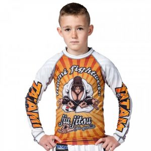 Tatami Kids Zen Gorilla Rash Guard BJJ Jiu Jitsu no-gi nogi kids youth submission wrestling larai manto scramble