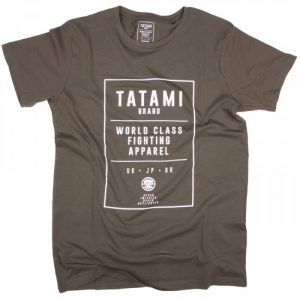 Tatami World Class Jiu Jitsu T-Shirt Khaki Tatami Spring 2017 range casual tee tshirt worldwide shipping manto scramble larai