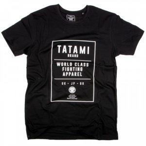 Tatami World Class Jiu Jitsu T-Shirt Black Tatami Spring 2017 range casual tee tshirt worldwide shipping manto scramble larai