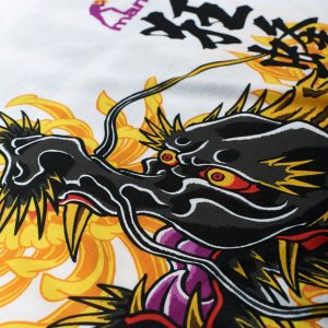 "Manto "" Krazy Bee Dragon "" Limited Edition T-Shirt White"
