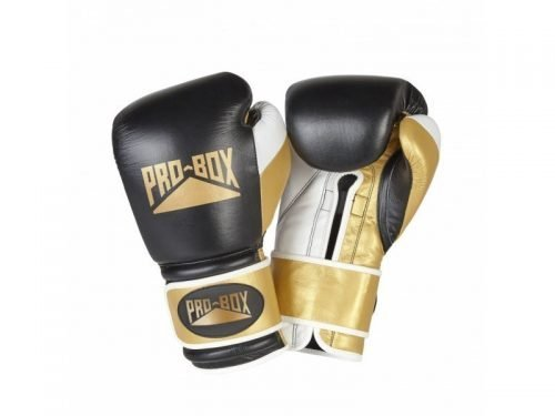 Pro-Box Boxing Special Edition Pro-Spar Leather Gloves Black Gold