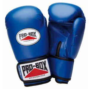 Pro-Box Base-Spar Senior Boxing Gloves in Blue