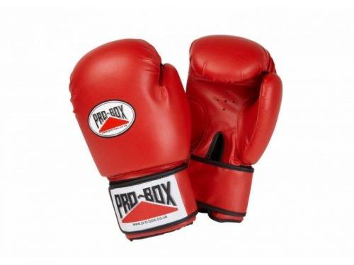 Pro-Box Base-Spar Senior PU Boxing Gloves Red