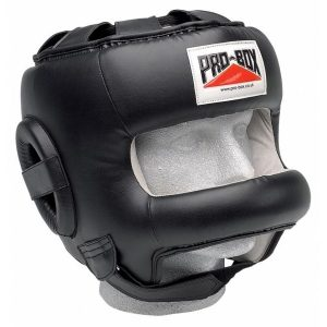 Pro-Box Head Guard Leather with Face Saver