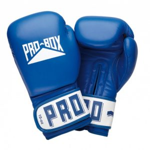 Pro-Box Leather Club Essentials Gloves in Blue.