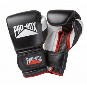 Pro Box Pro-Spar Leather Sparring Gloves Black