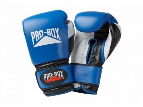 Pro Box Pro-Spar Leather Sparring Gloves Blue