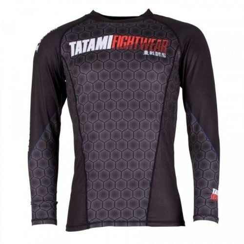 Tatami Essentials Black Hexagon Rash Guard