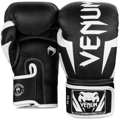 Venum Elite Boxing Gloves Black White