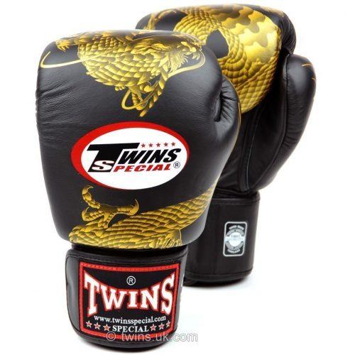 Twins Dragon Boxing Gloves FBGV-23 Black Gold