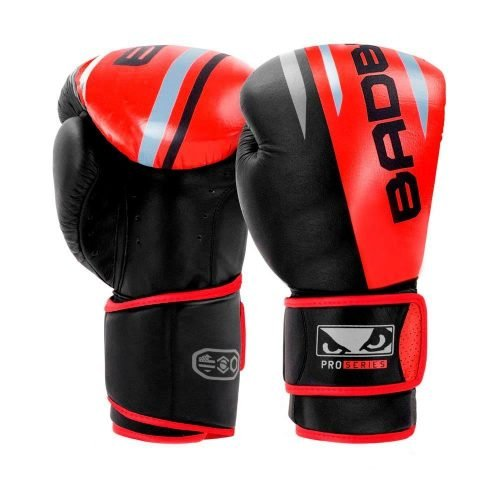 Bad Boy Boxing Gloves Leather Pro Series Advanced Red Black