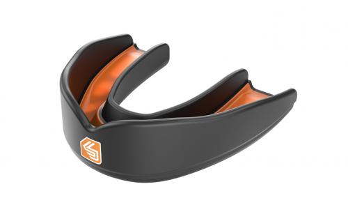 Shock Doctor Ultra Rugby Mouth Guard Black Orange