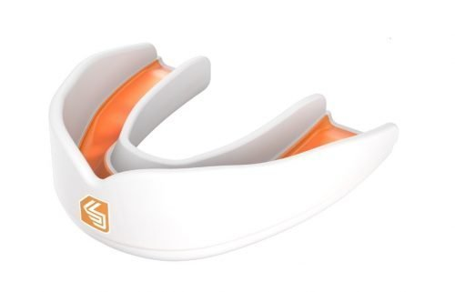 Shock Doctor Ultra Rugby Mouth Guard White Orange