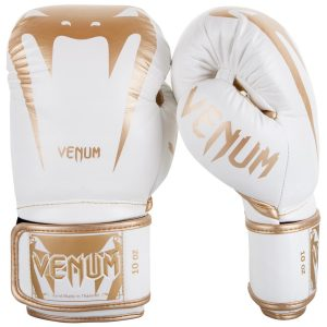 Venum Giant 3.0 Boxing Gloves Nappa Leather in White Gold