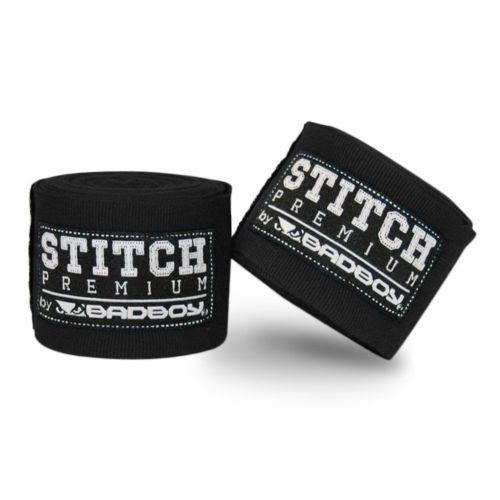 Bad Boy Stitch Premium Hand Wraps Black 5M