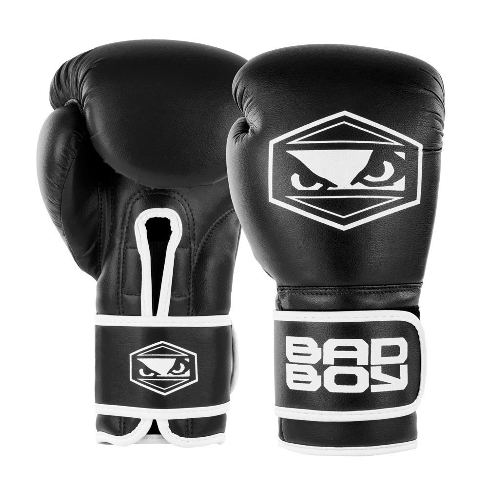 Shiv Naresh Teens Boxing Gloves 12oz: Bad Boy Strike Boxing Gloves Black