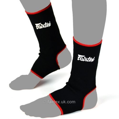 Fairtex Ankle Supports Anklets AS1 Black Red
