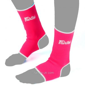 Fairtex Ankle Supports AS1 Pink White