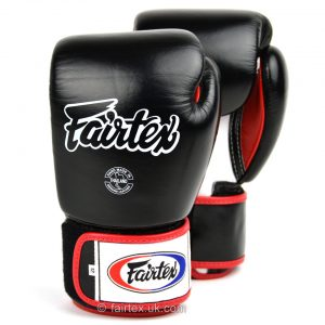 Fairtex Boxing Gloves 3-Tone Black BGV1