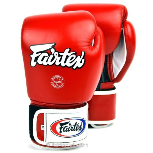 Fairtex Boxing Gloves 3-Tone Red BGV1
