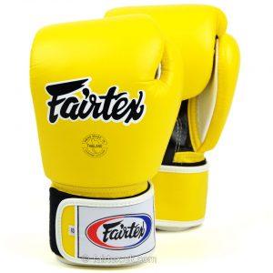 Fairtex Boxing Gloves 3-Tone Yellow BGV1