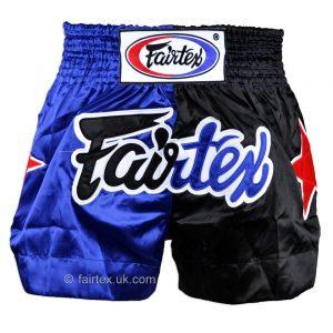 Fairtex BS84 Muay Thai Shorts Classic in Blue Black